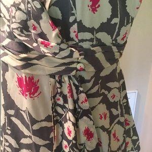 Nanette Lepore Tops - Nanette Lepore Floral Silk Wrap Blouse